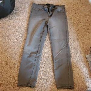 Gray Capri Jeans